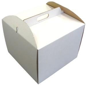 Karton do tortu z dekoracją (A040) 26,5x26,5x25 cm