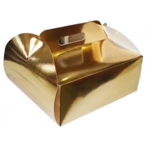 Karton do tortów złoty 26,5x26,5x14