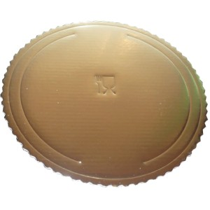 Podkład pod tort gruby złoty 42 cm